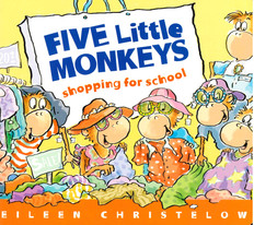 Five Little Monkeys Shopping for School (Board Book)