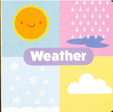 "Weather: Little Learning Chunky Board Book 3"" x 3"""