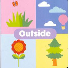"Outside: Little Learning Chunky Board Book 3"" x 3"""