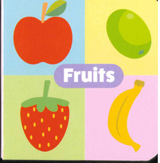"Fruits: Little Learning Chunky Board Book 3"" x 3"""
