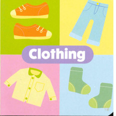 "Clothing: Little Learning Chunky Board Book 3"" x 3"""