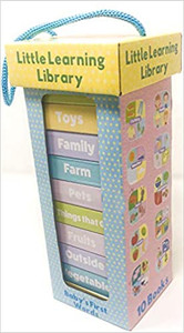 Baby's First Words: Little Learning Library Set of 10 (Chunky Board Books) 3 x 3 x .5 inches