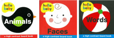 Hello Baby!  High Contrast Set of 3 (Board Book)