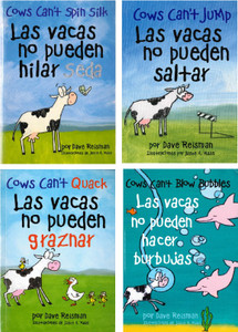 Lively and Lovable!  Jumping Cow Set of 4 (Spanish/English) (Paperback)