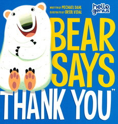 Bear Says Thank You (Paperback)