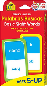 Basic Sight Words: Flash Cards Spanish/English
