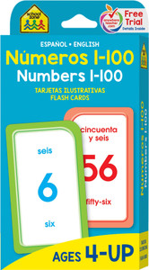 Numbers 1-100: Flash Cards Spanish/English