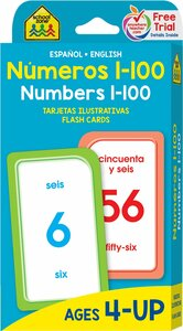 Numbers 1-100: Flash Cards Spanish/English