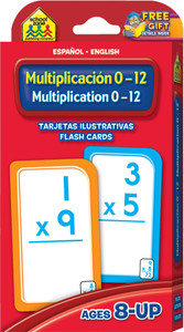 Multiplication 0-12: Flash Cards Spanish/English