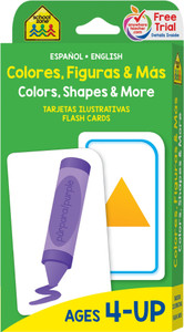 Colors, Shapes & More: Flash Cards Spanish/English