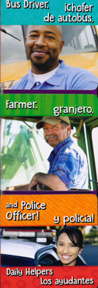 Bus Driver, Farmer, and Police Officer! Daily Helpers (Spanish/English) (Board Book)