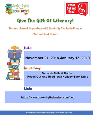 Decorah Bells & Books: Reach Out And Read Iowa Holiday Book Drive
