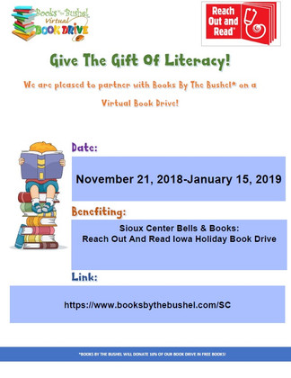 Sioux Center Bells & Books: Reach Out And Read Iowa Holiday Book Drive