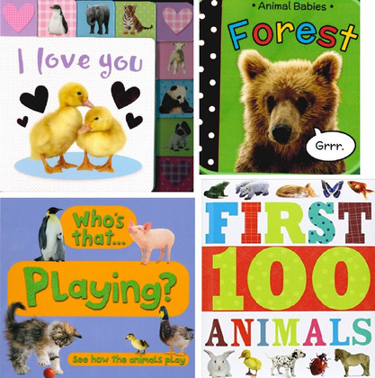 Baby's First Animals Book Set of 4 (Board Book)