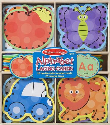 Alphabet Lacing Cards (Melissa & Doug) Special Buy!