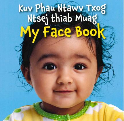 My Face Book-Hmong/English (Board Book)