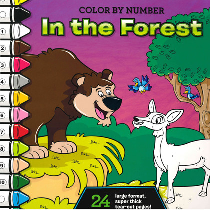 In the Forest: Color by Number (Paperback)