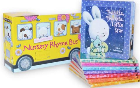 Nursery Rhyme Bus & Book Set of 8