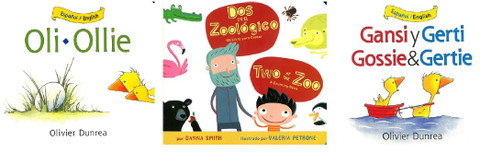 Animal Stories Perfect For Toddlers Set of 3 (Spanish/English) (Board Book)