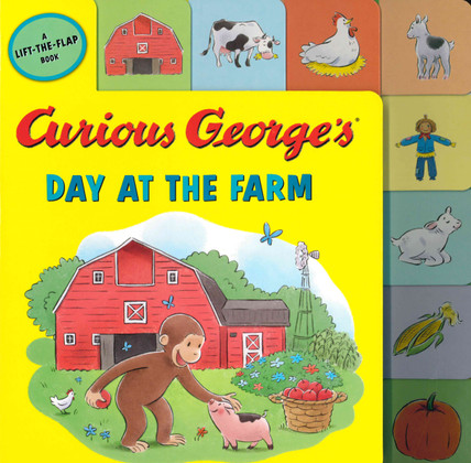 Curious George's Day at the Farm: Lift-a-Flap (Tabbed Board Book)
