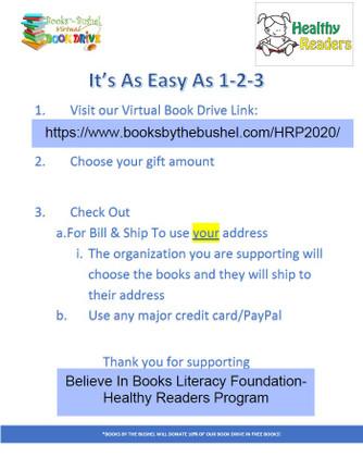 Believe In Books Literacy Foundation- Healthy Readers Program