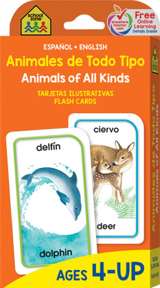 Animals of All Kinds: Flash Cards Spanish/English