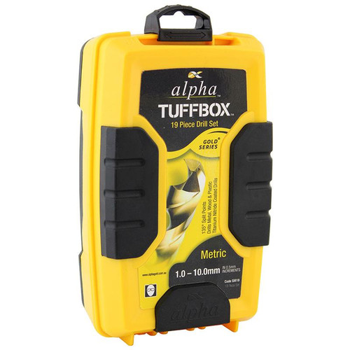 TUFFBOX DRILL SET 19 PCE 1-10mm