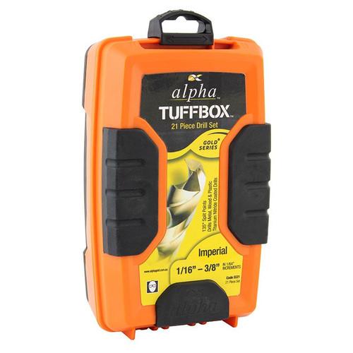 "TUFFBOX DRILL SET 21 PCE 1/16""-3/8"""