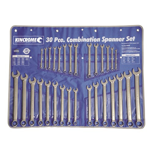 Comb Spanner Set 30pce Imperial & Metric