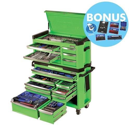 Contour Tool Kit 517pce 17 Drawer Green