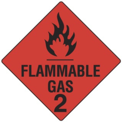 FLAMMABLE GAS 2 SIGN