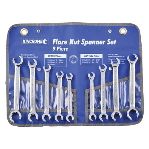 Flare Nut Spanner Set 9pce Metric & AF