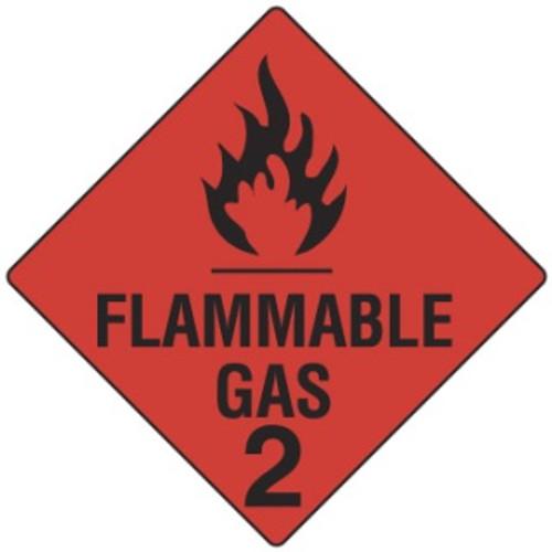 HAZCHEM-FLAMMABLE GAS SIGN/WKSHOP