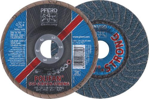 """Polifan Strong Flap Disc 5"""" 50Grit Pferd"""