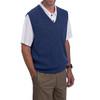 Men's Alpaca Wool Golf Links Sweater Vest - Denim Melange Blue Side