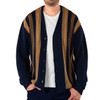 Vintage Button Down Men's Alpaca Cardigan - Front Un-buttoned