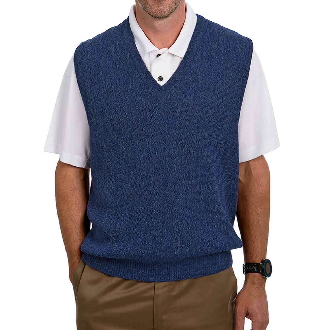 44-46 Chest Men/'s Vest Ready To Wear Blue Wool Waistcoat Men/'s Waistcoat Men/'s Blue Wool Vest