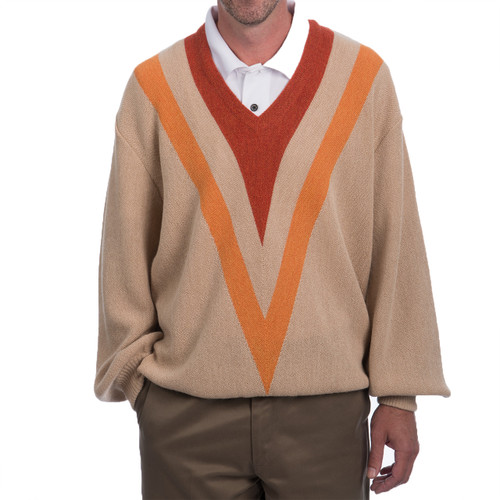 Retro V's Alpaca Golf Pullover Sweater Front