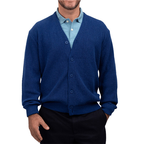 Men's Sterling Cooper New Millennium Alpaca Cardigan Front