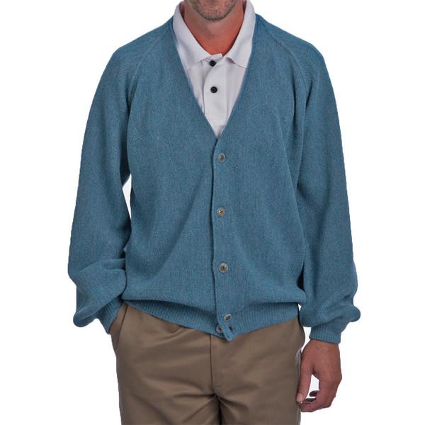 Men's Alpaca Golf Cardigan Front