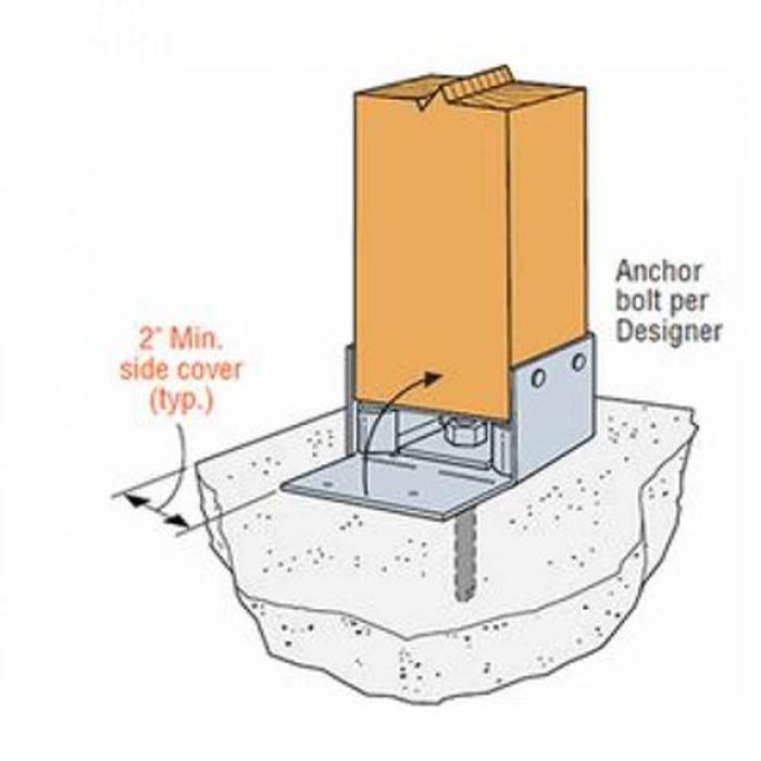 Simpson ABW66Z 6x6 ABW Adjustable Post Base