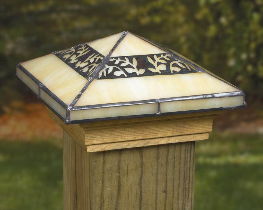Filigreed Leaf Post Cap