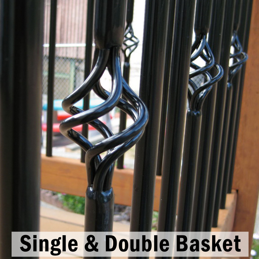 Round Vintage Steel Basket Balusters by Fortress