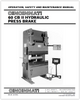 EM-442 (N-03-98) 60 CB II Hydraulic Press Brake - Operation, Safety and Maintenance Manual