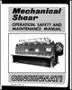 EM-280 (FEB 93) - Mechanical Shear - Operation, Safety and Maintenance Manual