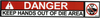 Safety Sign: Press Brake - Danger Die Area (English)