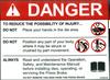 Safety Sign: Press Brake - Danger  (English)