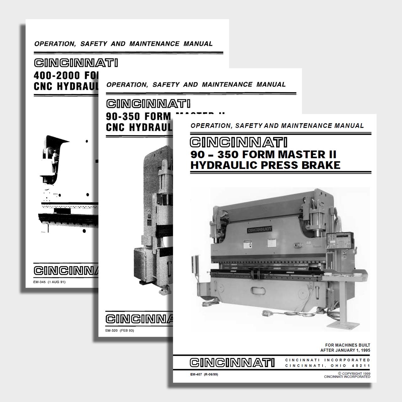 FormMaster II CNC Press Brake Manual Bundle