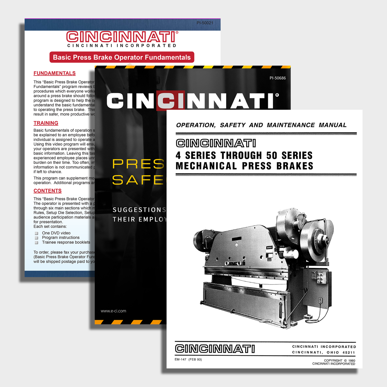 Mechanical CNC Press Brake Manuals