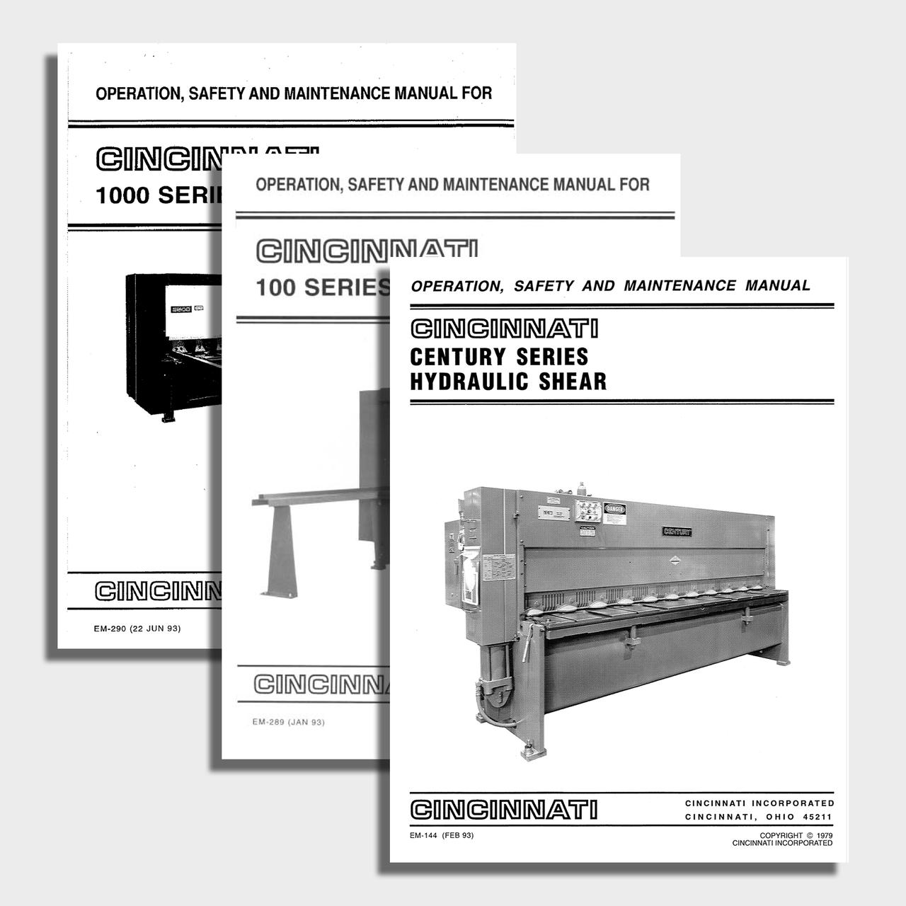 HS Series CNC Shear Manual Bundle
